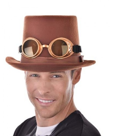 Steampunk Brown Hat with Goggles BUY
