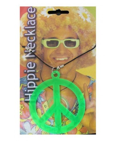 Hippie Peace Sign Necklace Green BUY