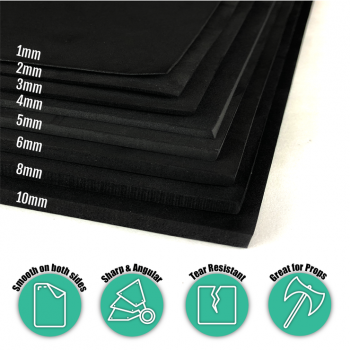 Hard-Lite EVA Foam Sheet Black 05mm