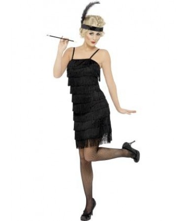 Black Fringe Flapper ADULT HIRE