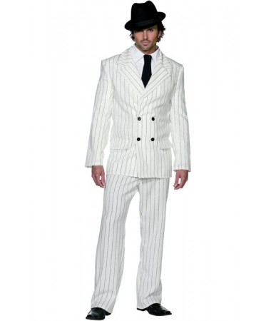 White Gangster Suit #1 ADULT HIRE