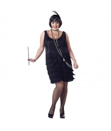 Black Plus Size Flapper #2 ADULT HIRE