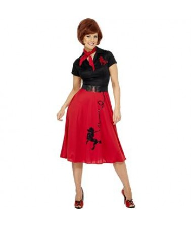 Red 50s Girl Plus Size ADULT HIRE