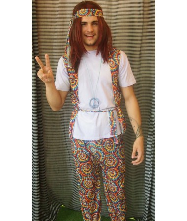 Tie Dyed Hippy ADULT HIRE