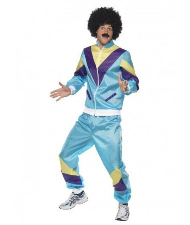 Blue 80's Tracksuit ADULT HIRE