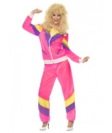 Pink 80's Tracksuit #1 ADULT HIRE
