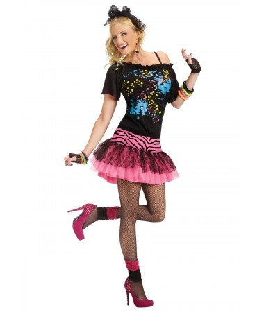 80s Punk Ra Ra Dress ADULT HIRE