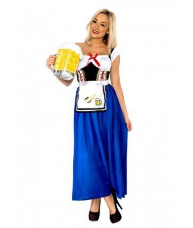Blue German Beer Maid ADULT HIRE