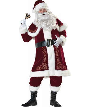 Santa Suit #08 Jolly Ol St Nick ADULT HIRE (extra large)