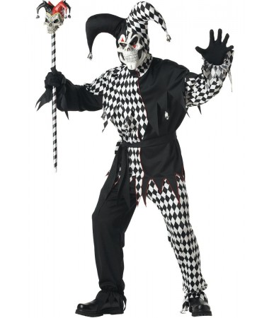 Black and White Evil Jester #1 ADULT HIRE