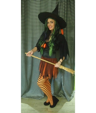 Orange and Black Witch ADULT HIRE