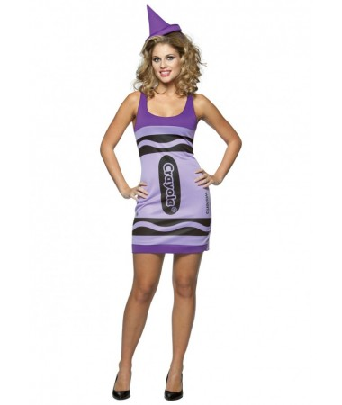 Purple Wisteria Crayon Tank Dress ADULT HIRE