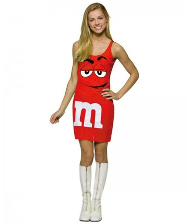 Red M & M Tank Dress ADULT HIRE