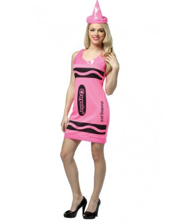 Shocking Pink Crayon Tank Dress ADULT HIRE