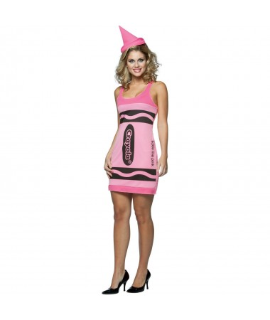 Tickle Me Pink Crayon Tank Dress ADULT HIRE