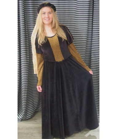 Brown Medieval Maiden ADULT HIRE