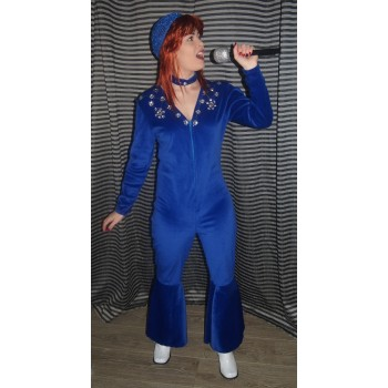 ABBA Blue Jumpsuit (Anni-Frid) ADULT HIRE