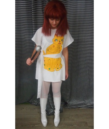 ABBA Cat Dress Yellow (Anni-Frid) ADULT HIRE