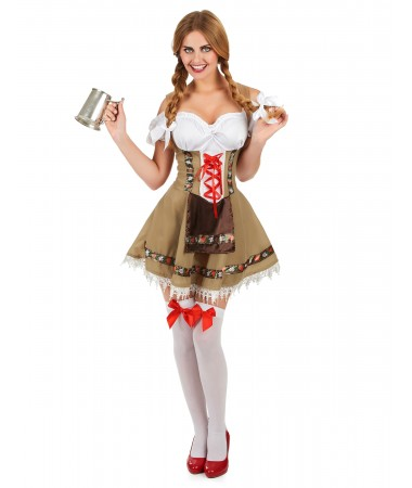 Brown Alpine Oktoberfest Girl ADULT HIRE