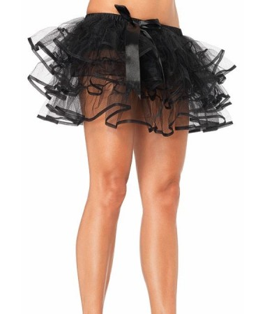 Black Petticoat with bow ADULT HIRE