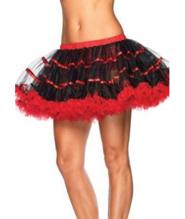 Red and Black Petticoat ADULT HIRE