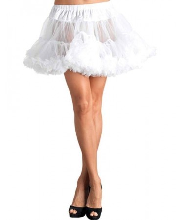 Petticoat White Layered Tulle
