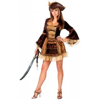 Brown Pirate Wench ADULT HIRE