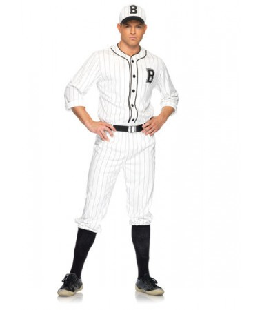 Retro Baseball Player ADULT HIRE