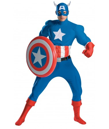 Captain America Deluxe Classic ADULT HIRE