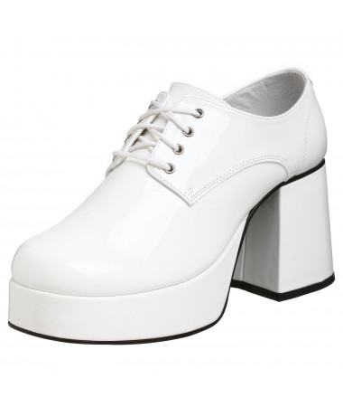 Mens White Platform Shoes ADULT HIRE