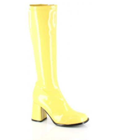 Go Go Boots Yellow Size 8 HIRE
