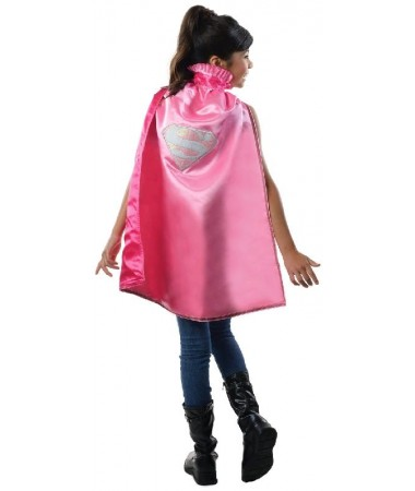 Supergirl Pink Deluxe Cape Kids
