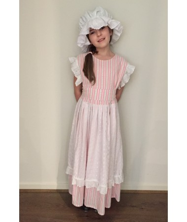Pink Floral Colonial Girl KIDS HIRE