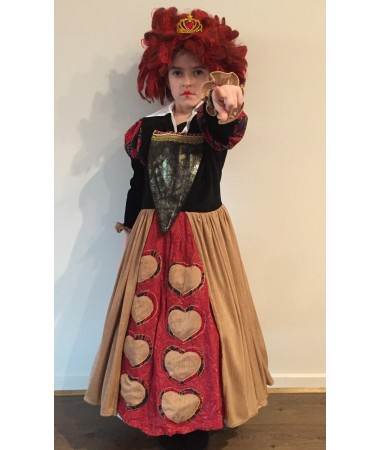 Red Queen of Hearts Deluxe KIDS HIRE